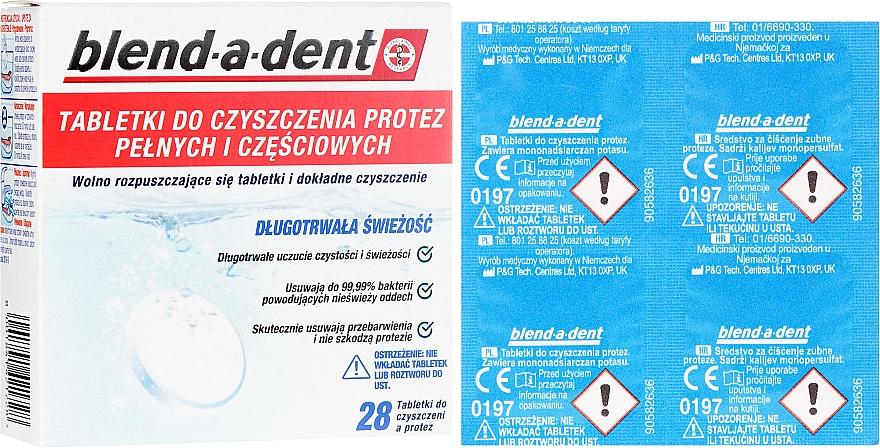 Tablete de curățare activă pentru proteze - Blend-A-Dent