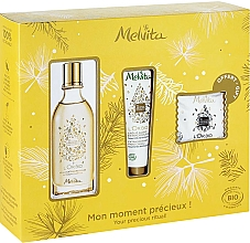 Parfumuri și produse cosmetice Set - Melvita L'Or Bio Set (soap/20g + oil/50ml + h/cr/30ml)