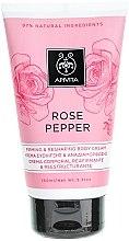 Parfumuri și produse cosmetice Cremă cu piper roz cu efect de întărire pentru corp - Apivita Rose Pepper Firming & Reshaping Body Cream