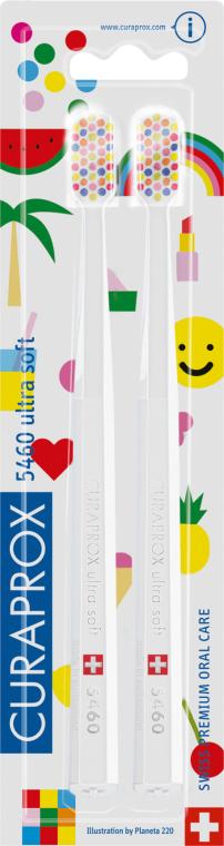 Set periuțe de dinți, albe - Curaprox Ultra Soft Pop Art Edition — Imagine N1