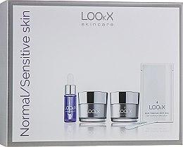 """Parfumuri și produse cosmetice Set pentru față """"Regenerare"""" - LOOkX Try Me Set Normal Sensetive Skin (cl/balm/15ml + cr/15 ml + oil/5 ml)"""