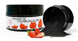"""Parfumuri și produse cosmetice Praf pentru albirea dinților """"Căpșună"""" - Keeth Strawberry-flavoured Activated Charcoal Bleaching Powder"""