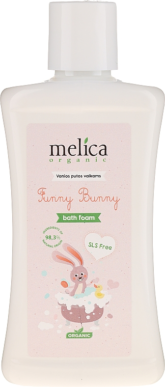 """Spumă de baie """"Bunny"""" - Melica Organic Funny Bunny Bath Foam — Imagine N1"""