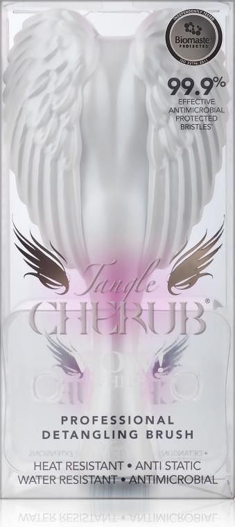 Pieptene-înger compact, alb-roz - Tangle Angel Cherub Brush White Pink — Imagine N3