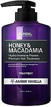 "Parfumuri și produse cosmetice Balsam de păr ""Vanilie de chihlimbar"" - Kundal Honey & Macadamia Amber Vanilla Treatment"
