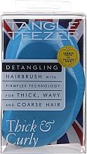Parfumuri și produse cosmetice Pieptene pentru păr des și creț, albastru - Tangle Teezer Thick & Curly Azure Blue