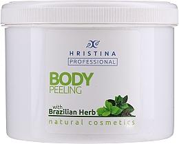 "Parfumuri și produse cosmetice Scrub pentru corp ""Brazilian Herb"" - Hristina Professional Brazilian Herb Body Peeling"