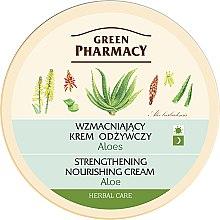 "Parfumuri și produse cosmetice Cremă de față ""Aloe"" - Green Pharmacy Strengthening Nourishing Cream"