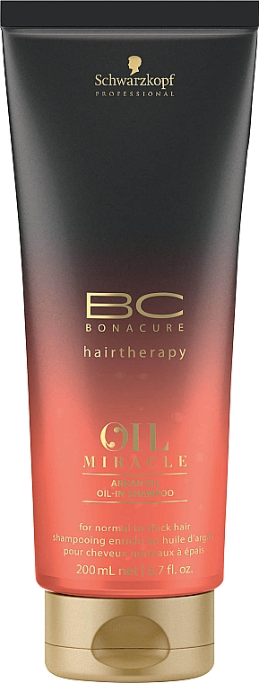 Șampon cu ulei de argan - Schwarzkopf Professional BC Oil Miracle