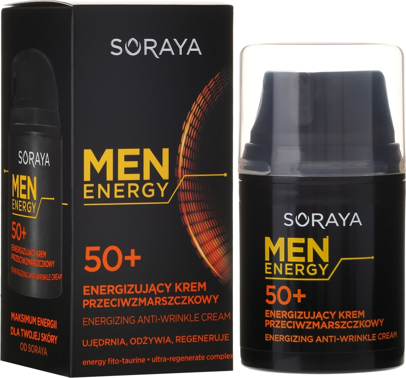 "Cremă antirid ""Nutriție și regenerare"" 50+ - Soraya Men Energy — Imagine N1"