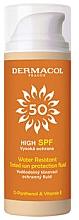 Parfumuri și produse cosmetice Fluid de protecție solară, impermeabil - Dermacol Sun Tinted Water Resistant Fluid SPF50