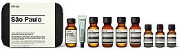 Parfumuri și produse cosmetice Set - Aesop Sao Paulo Travel Essentials Kit (shm/50ml + cond/50ml + sh/gel/50ml + balm/50ml + m/wash/50ml +t/paste/10ml + toner/15ml + serum/15ml)