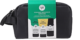 Parfumuri și produse cosmetice Set - The Real Shaving Co. Overnight Skin Shave Essentials Gift Set (shave/gel/100ml+face/wash/scrub/100ml+bag+acc)