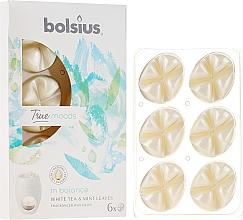 """Parfumuri și produse cosmetice Ceara aromatică """"Ceai alb și frunze de mentă"""" - Bolsius True Moods In Balance White Tea & Mint Leaves"""