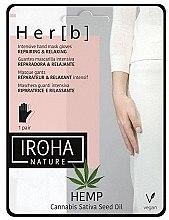 Parfumuri și produse cosmetice Mască pentru mâini - Iroha Nature Cannabis Hand Mask