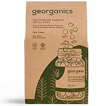 """Parfumuri și produse cosmetice Tablete de clătire pentru cavitatea bucală """"Arbore de ceai"""" - Georganics Mouthwash Tablets Tea Tree (rezervă)"""