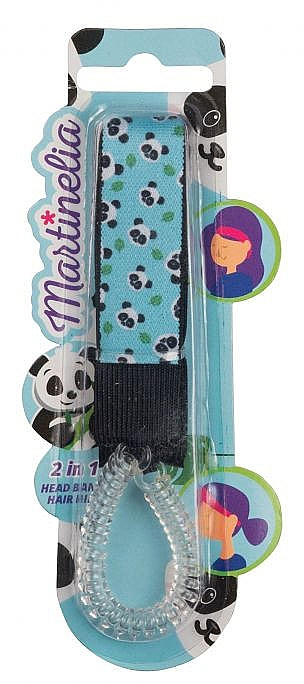 "Elastic-bandă de păr 2 in 1, ""Pandă"" - Martinelia Head Band + Hair Ring — Imagine N1"