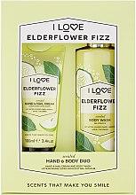 Parfumuri și produse cosmetice Set - I Love Signature Hand & Body Duo Elderflower Fizz (h/cr/100ml + b/wash/360ml)