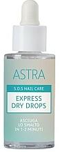 Parfumuri și produse cosmetice Picături uscare express - Astra Make-up Sos Nails Care Express Dry Drops