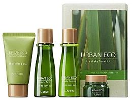 Parfumuri și produse cosmetice Set de îngrijire cu extract de Phormium tenax, pentru călătorii - The Saem Urban Eco Harakeke Travel 4 Kit (foam/25ml+ton/31ml+emul/31ml+cr/8ml)