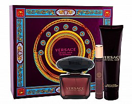 Parfumuri și produse cosmetice Versace Crystal Noir - Set (edp/90ml + b/lot/150ml + edt/10ml)