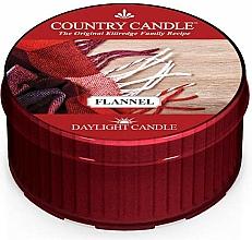 """Parfumuri și produse cosmetice Lumânare de ceai """"Flanel""""  - Country Candle Flannel Daylight"""