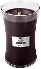 Parfumuri și produse cosmetice Lumânare aromată - WoodWick Hourglass Candle Black Plum Cognac