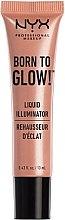 Parfumuri și produse cosmetice Iluminator pentru față - NYX Professional Makeup Born To Glow Liquid Illuminator (mini)