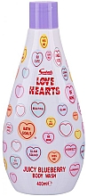 Parfumuri și produse cosmetice Gel de duș - Swizzels Love Hearts Juicy Blueberry Body Wash