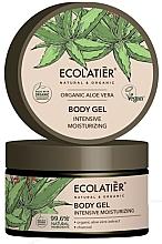 """Parfumuri și produse cosmetice Gel hidratant de corp """"Aloe Vera și cărbune"""" - Ecolatier Organic Aloe Vera Intensive Moisturizing Body Gel"""