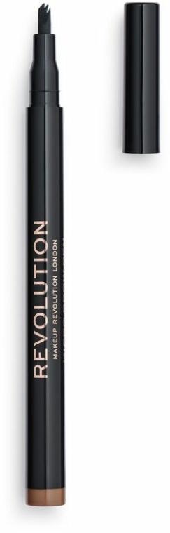 Creion pentru sprâncene - Makeup Revolution Micro Brow Pen