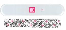 Parfumuri și produse cosmetice Pilă de unghii - Ilu Nail File With Case Medium 240/240