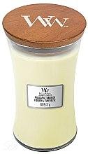 Parfumuri și produse cosmetice Lumânare aromată - WoodWick Hourglass Candle Fig Leaf and Tuberose