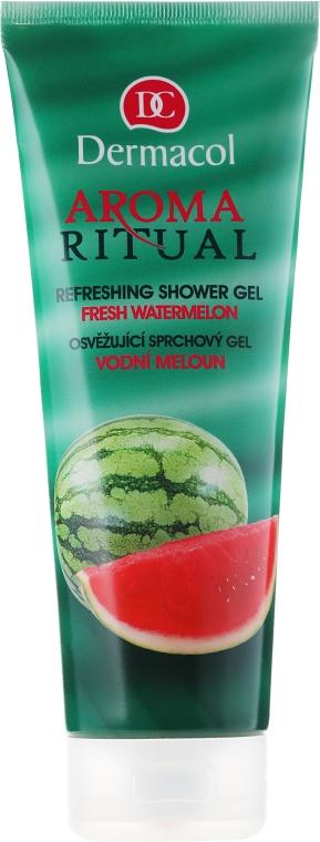 "Gel revigorant de duș ""Pepene verde proaspăt"" - Dermacol Body Aroma Ritual Refreshing Shower Gel — Imagine N1"