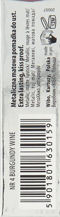 Ruj lichid de buze - Wibo Liquid Metal Lipstick — Imagine N3