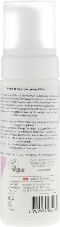 Spumă pentru igiena intimă - Derma Eco Woman Intimate Wash Foam — Imagine N2