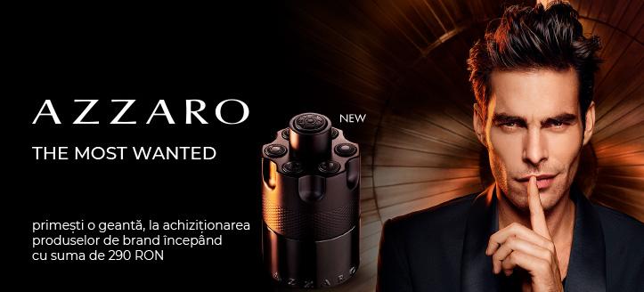La achiziționarea produselor Azzaro începând cu suma de 290 RON, primești cadou o geantă de marcă