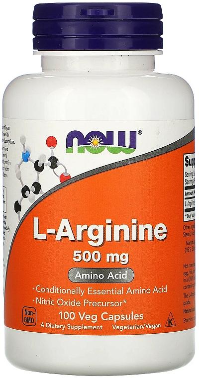 """Aminoacid """"L-Arginina"""", 500 mg - Now Foods L-Arginine Veg Capsules"""