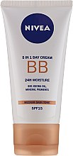 Cremă BB - Nivea 5in1 BB Day Cream 24H Moisture SPF 15 — Imagine N2