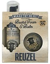 Parfumuri și produse cosmetice Set - Reuzel Wood and Spice Beard Try Me Kit (balm/35g + foam/70ml )
