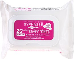 Parfumuri și produse cosmetice Șervețele demachiante - Byphasse Make-up Remover Micellar Solution Sensitive Skin Wipes