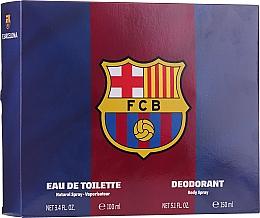 Parfumuri și produse cosmetice Air-Val International FC Barcelona - Set (edt/100ml + deo/150ml)