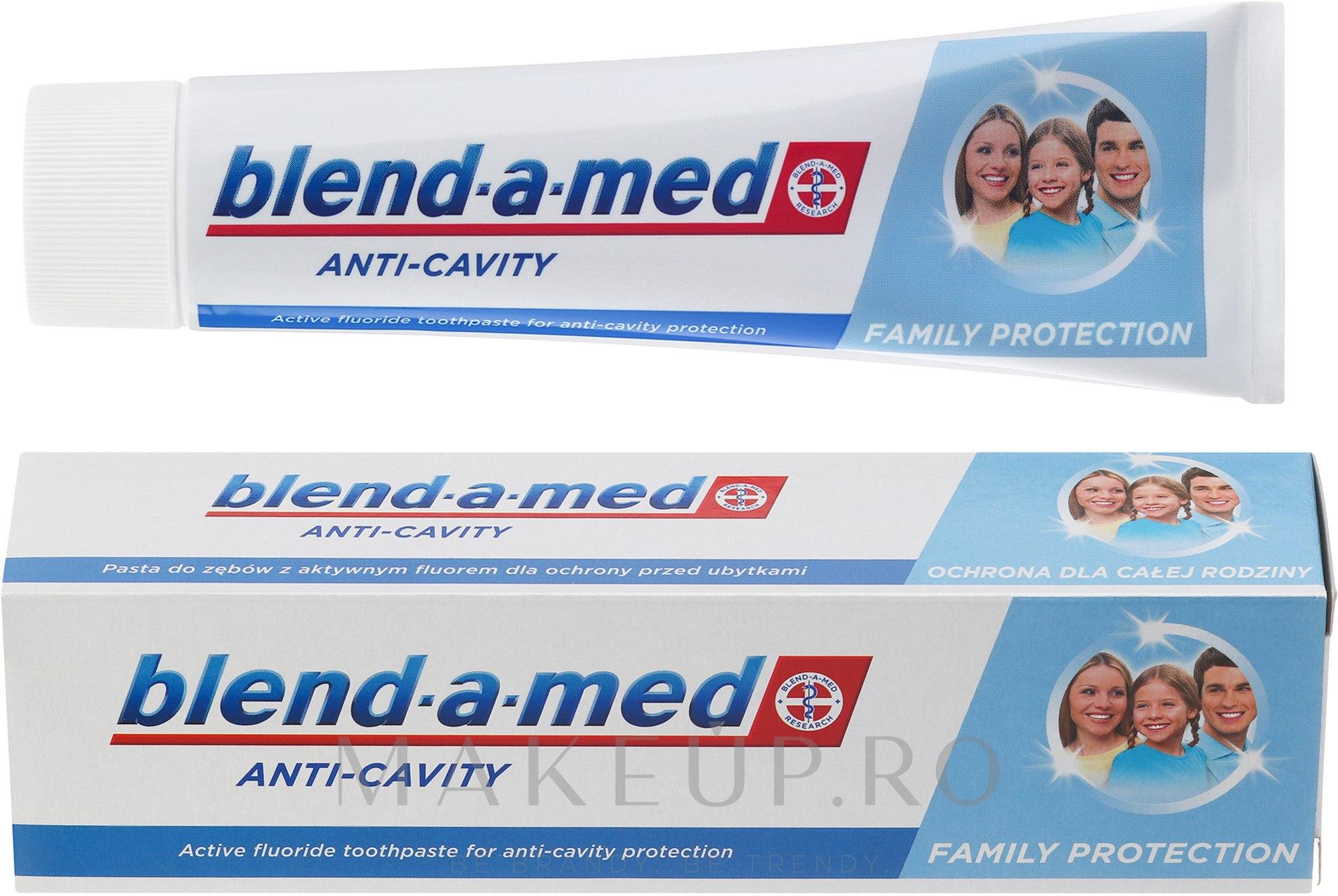 """Pastă de dinți pentru toată familia """"Anti-carii"""" - Blend-a-med Anti-Cavity Family Protect Toothpaste — Imagine 100 ml"""