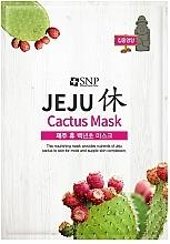 Parfumuri și produse cosmetice Mască nutritivă cu cactus din țesut pentru față - SNP Jeju Rest Cactus Mask