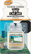 Parfumuri și produse cosmetice Aromatizator auto - Yankee Candle Car Jar Ultimate Clean Cotton