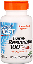 Parfumuri și produse cosmetice Trans-Resveratrol cu extract de ResVinol, 100 mg, capsule - Doctor's Best