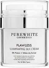 Parfumuri și produse cosmetice Cremă pentru iluminarea tenului - Pure White Cosmetics Flawless Illuminating Silk Cream
