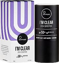 Parfumuri și produse cosmetice Cremă de protecție solară - Suntique I'm Clear Cica Sunstick SPF50+/PA+++