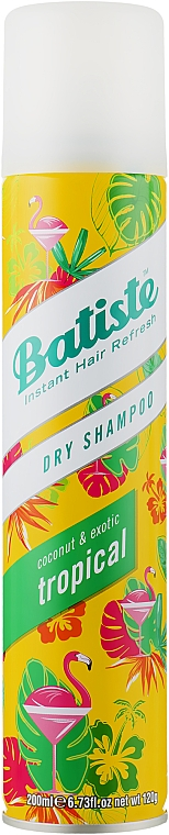 Șampon uscat - Batiste Dry Shampoo Coconut and Exotic Tropical