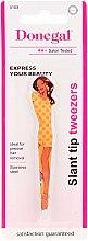 """Parfumuri și produse cosmetice Pensetă pentru sprâncene """"Go! Girl"""" 4103, brunetă în rochie galbenă - Donegal"""